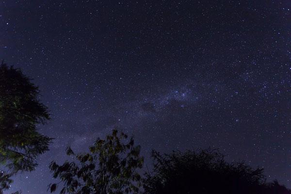 14.05. Der schöne Sternenhimmel über Tiaans kündigt eine eiskalte Nacht an.