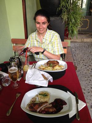 04.06. Sighișoara, Abendessen in der Casa Krauss