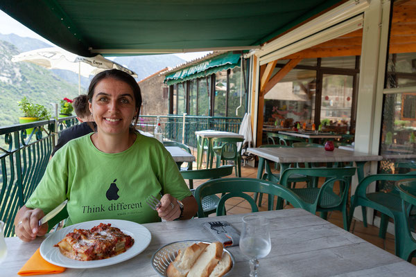 "02.06. Schon Tradition haben die Canelloni au Brocciu bei ""Chez Marie"" in Ota."