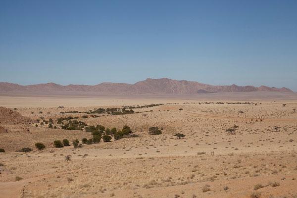 13.2. Von unserer Terasse haben wir einen tollen Blick auf die schöne Landschaft von Klein Aus Vista