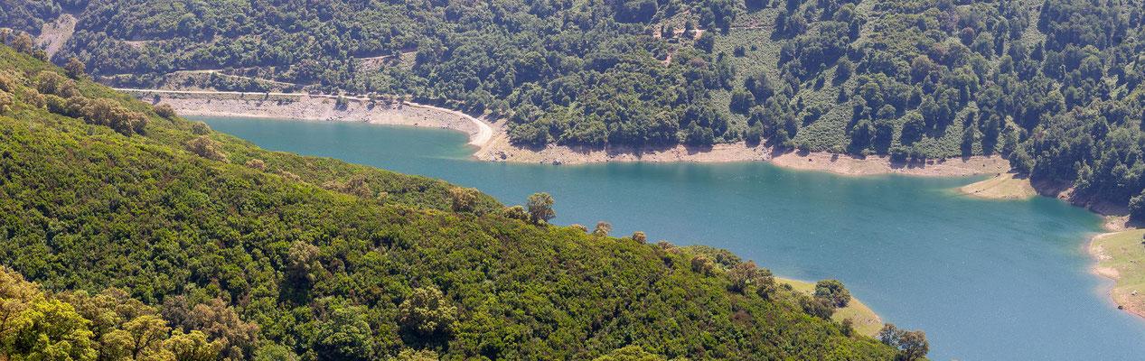 23.5. Castagniccia: Fotostopp oberhalb des Alesani Stausees