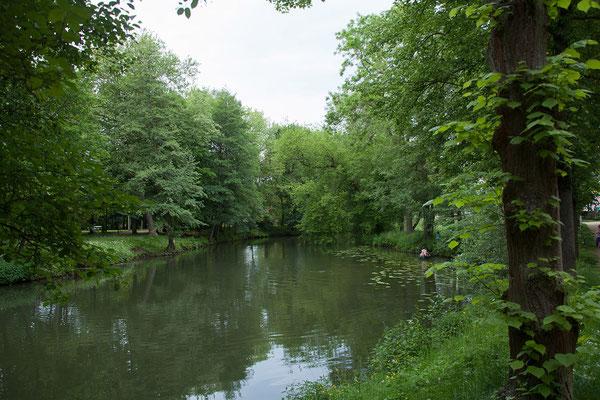 Auf dem Weg nach Bad Kissingen; Fränkische Saale