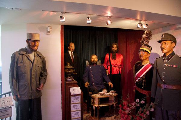 25.07. Panoptikum: F. Castro, W.I. Lenin, Nikolaus II, Rasputin, Hirohito & Tschiang Kai-schek