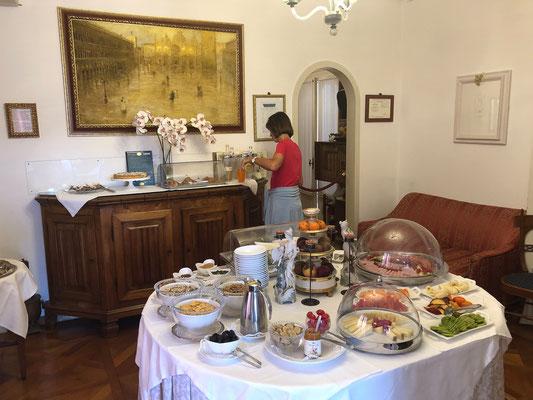 Ca' Angeli - ausgezeichnetes Frühstücksbuffet