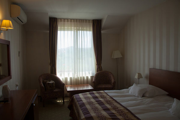 12.06. In Sibiu wohnen wir in der schönen Pensiunea Palazzo.