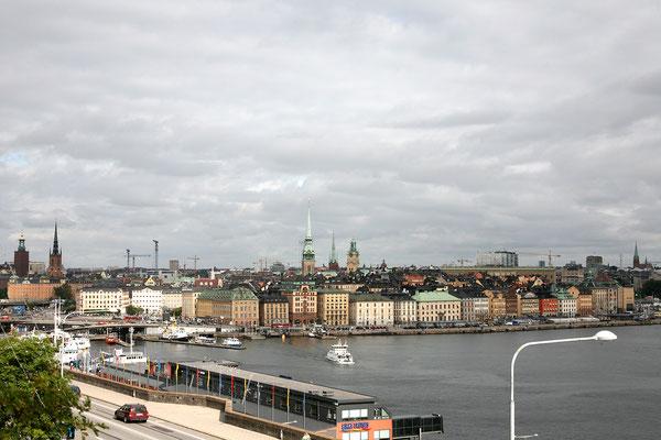Mäster Mikaels gata, Aussicht auf die Altstadt (Gamla Stan)