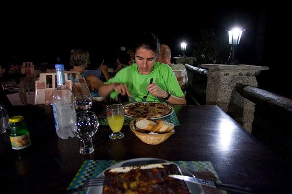 02.09. Im Camping Tuani essen wir sehr gut.
