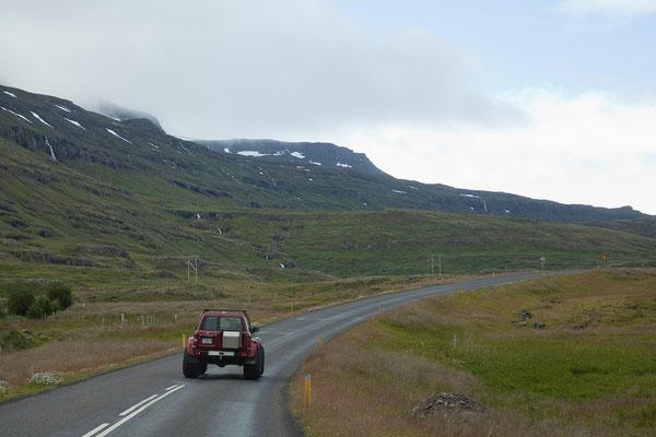 31.7. Über die Fjarðarheiði nach Egilsstaðir
