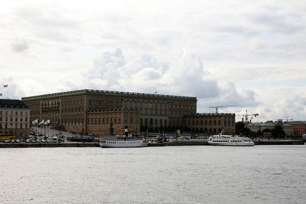 Skeppsholmsbron, Blick auf Kunigla Slottet