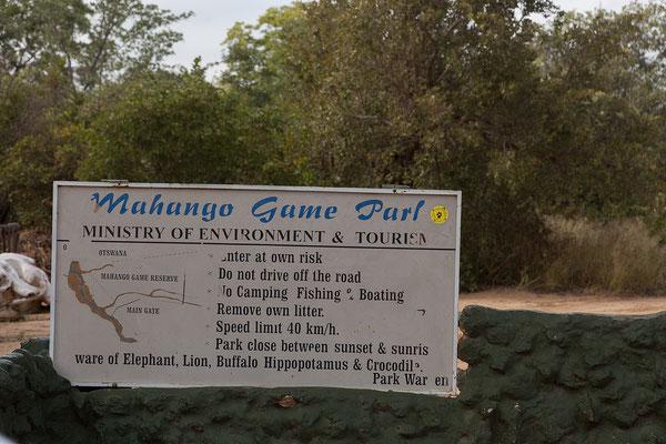 25.4. Heute besuchen wir die Mahango Game Reserve.