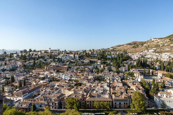 Granada, Alhambra: Blick auf Albaicín