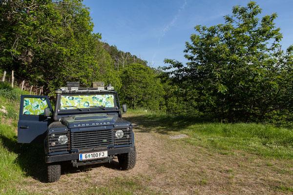 02.06. Am Camping L'Acciola in Evisa genießen wir die tolle Aussicht und den warmen Abend.