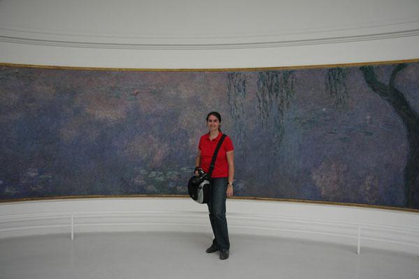 12.06. Im Musée de l'Orangerie sehen wir uns die berühmten Monet Bilder an.