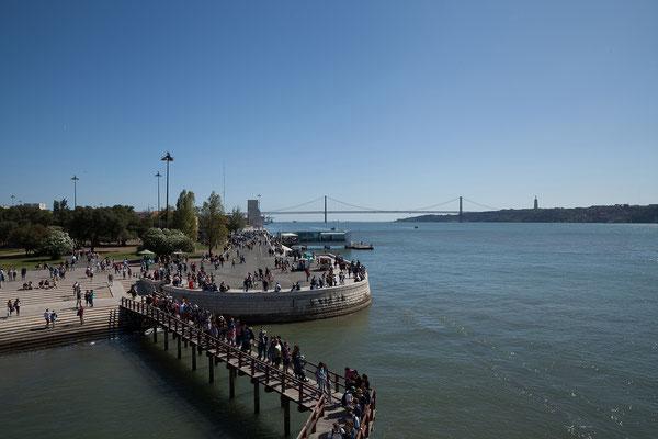 16.09.  Torre de Belém: das online Ticket erspart uns die Warteschlange.