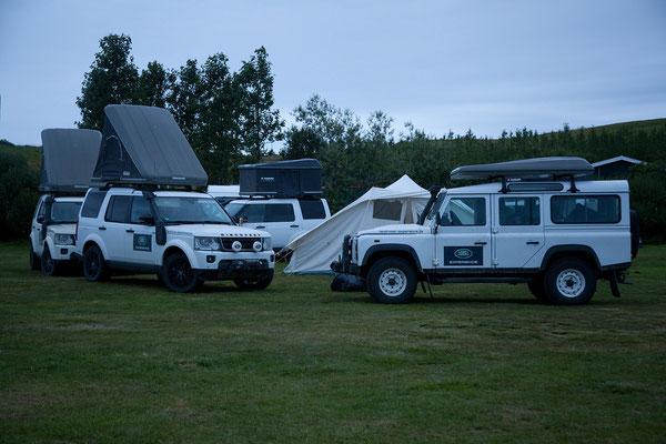 4.8. Húsavík - Camping - auch die Land Rover Experience macht hier Station