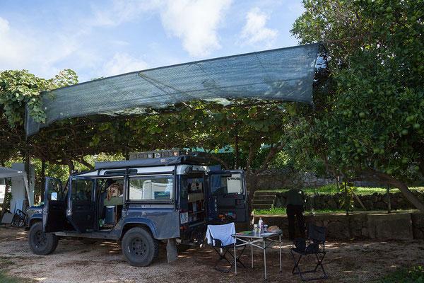 20.09. Molunat - Frühstück am Campingplatz