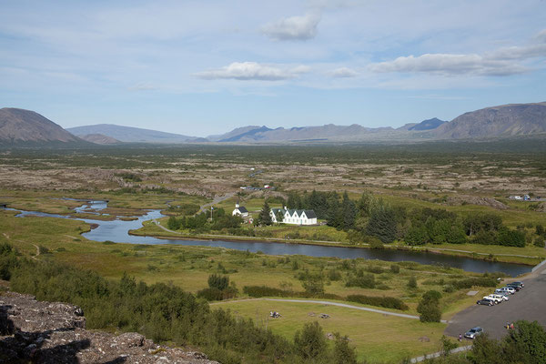 11.8. Þingvellir - Blick vom Lögberg