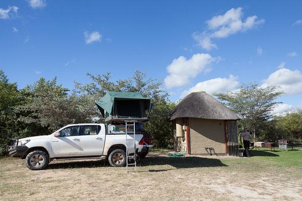 23.4. Campsite der Hakusembe River Lodge bei Rundu