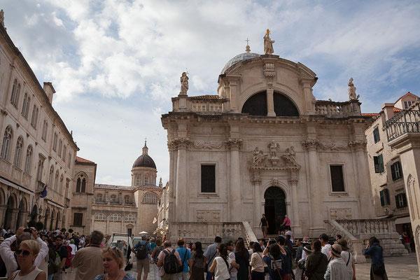 21.09. Dubrovnik - Die Kirche des Hl. Blasius ist das religiöse Herz der Stadt.