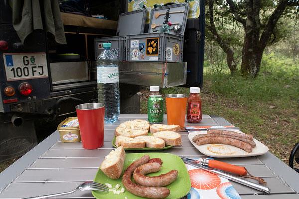 03.06. Abendessen am Camping Campita, Francardo