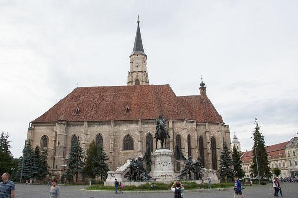 15.6. Cluj - Biserica Sfăntul Mihail & Standbild Matthias Corvinus
