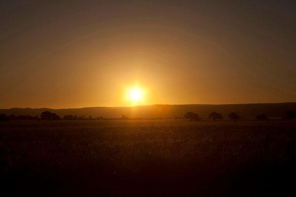 15.2. Vor Sonnenuntergang kommen wir zurück auf unsere Campsite