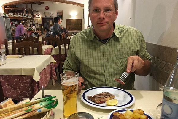 23.09. Verona - Trattoria da Ropeton - eine Veroneser Spezialität ist Pferdefleisch