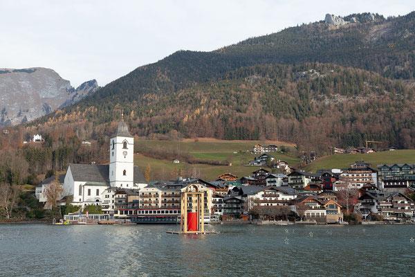 Blick zurück auf St. Wolfgang.