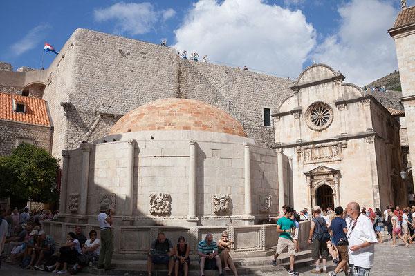 21.09. Dubrovnik - Großer Onofrio Brunnen