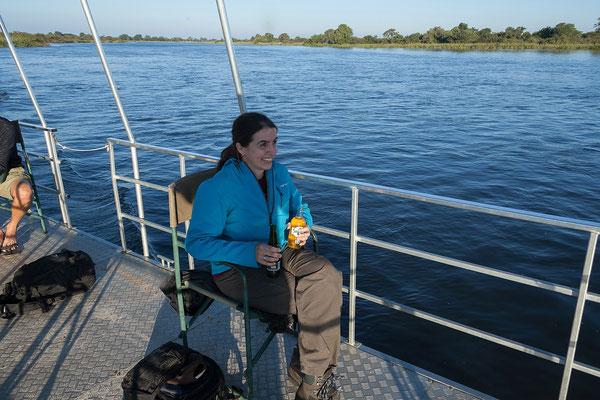25.4. Bootsfahrt am Kavango