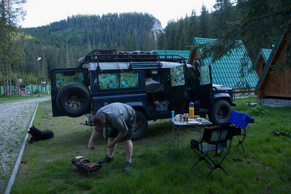 08.06. Bucegi Nationalpark, Camping Zanoaga