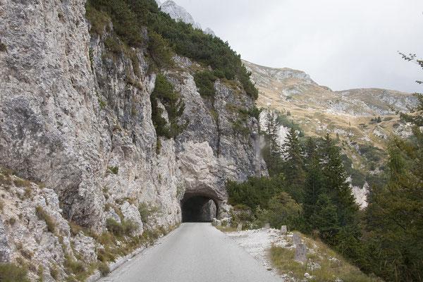 Die Mangrtstraße ist die höchste legal befahrbare Straße Sloweniens.
