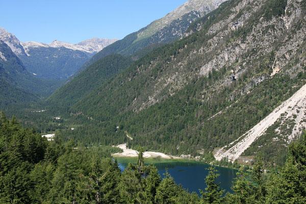 Predilpass (Predel, Passo di Predel), Blick auf den Lago del Predil