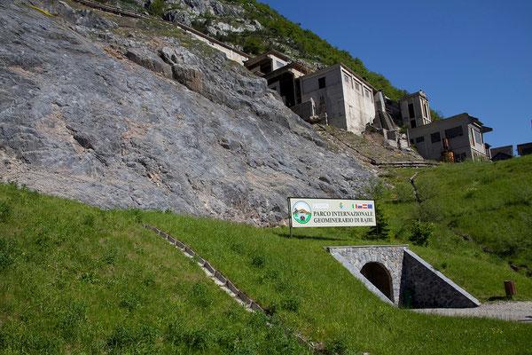 Cave del Predil - Das Bergwerk war bis zur Stilllegung 1991 das größte Blei- und Zinkbergwerk des Aplenraums.