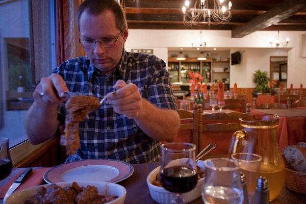 07.09. Bastelica, Chez Paul: schöne Zimmer und ausgezeichnetes Essen.