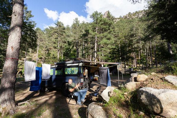 04.06. Wir übernachten am Camping Tuani im Restonica Tal .