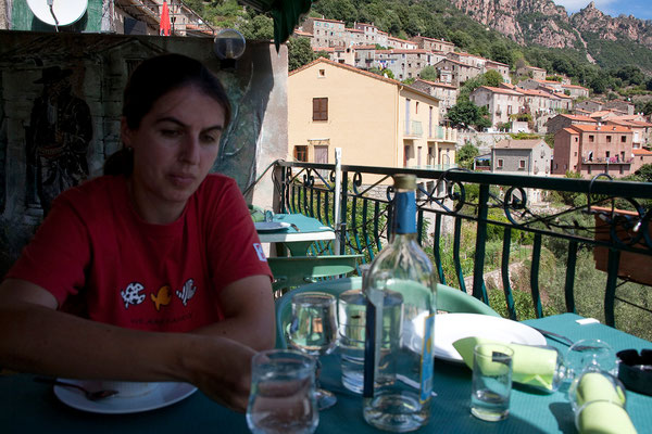 05.09. Ota: wir essen wieder ausgezeichnet im Restaurant Chez Marie