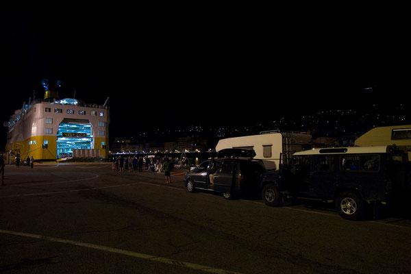 17.09. Bastia, gegen Mitternacht fahren wir auf die Fähre