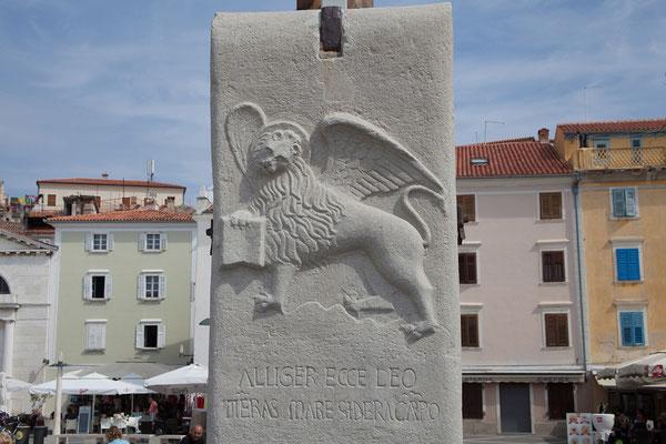Piran, Tartini Platz, Löwe von San Marco
