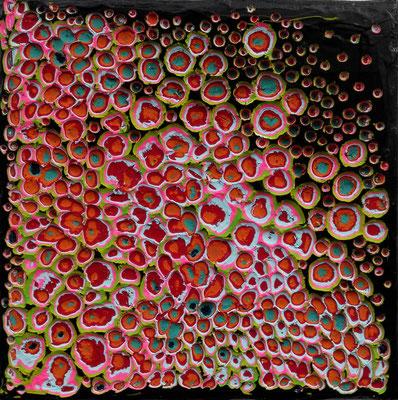Mini No. 04 Mischtechnik Acryl auf Leinwand 15x15x2 cm (2015) - verkauft -