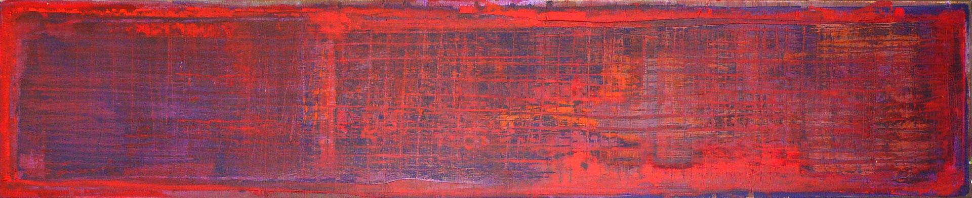 No. 42 - Mischtechnik Acryl auf Leinwand 150x30 cm (2013)
