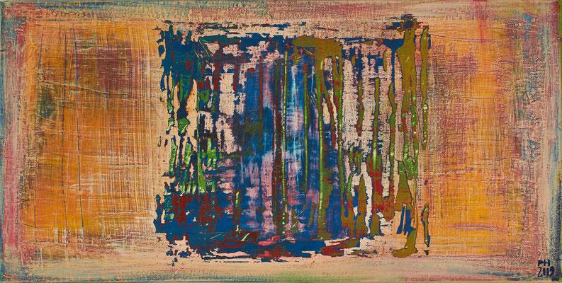 No. 09 - Mischtechnik Acryl auf Leinwand 100x50 cm (2009)