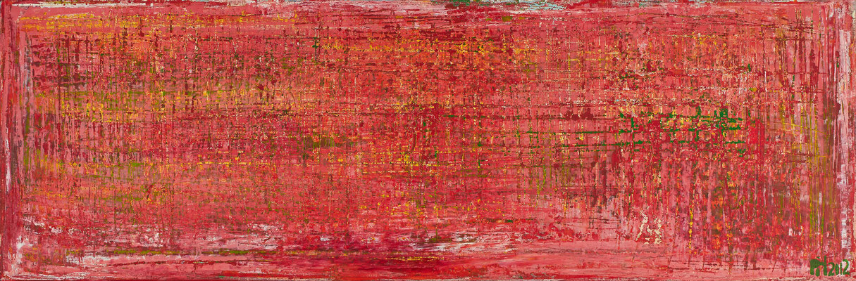 No. 28 - Mischtechnik Acryl auf Leinwand 120x40 cm (2012)