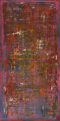 No. 16 - Mischtechnik Acryl auf Leinwand 40x80  cm (2010)