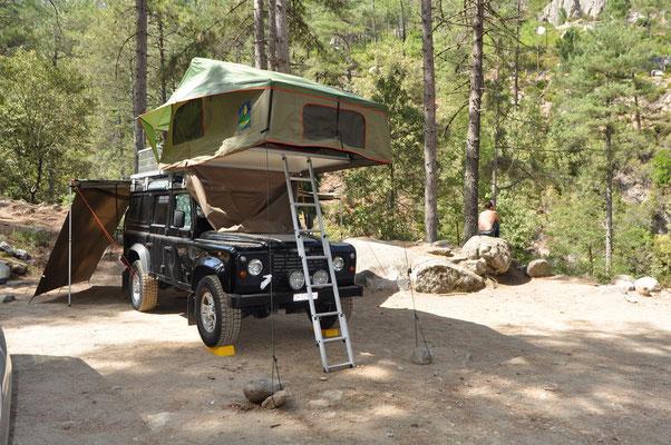 Camping im Restonica Tal
