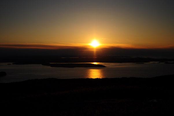 Sonnenaufgang am Mt Cadillac im Acadia National Park