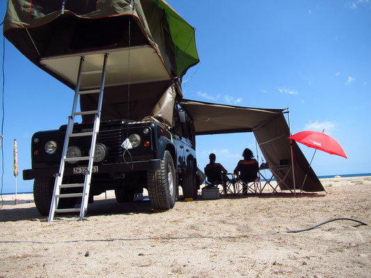 Camping auf dem Strand