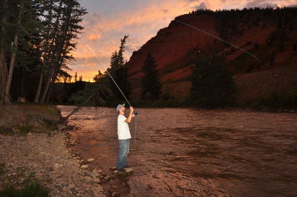 Mike natürlich am fischen
