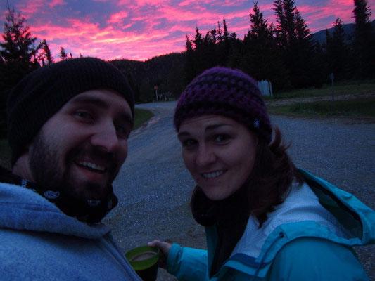 Die Sonnenuntergänge sind jeweils richtig kitschig...aber auch kalt