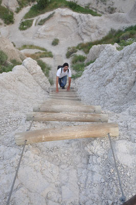 Wanderung im Badlands National Park